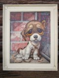 60s GIG Vintage Big Eyes Art Dog #016 (PJ433)