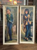 60s Maio Vintage Big Eyes Art Harlequin Set 98cm (DJ113)