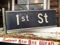 Vintage Street Sign / 1st ST #B (DJ340)