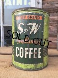 Vintage S and W Coffee Can Two Pounds (DJ472)