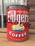 Vintage Folger's Coffee Can Two Pounds #K (DJ473)