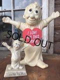 70s Vintage Message Doll / I Love... #L (MA60)