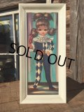 SALE!60s Eden Vintage Big Eyes Art Harlequin (MA292)