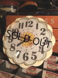Vintage GE Kitchen Wall Clock Flower (MA442)