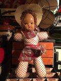 Vintage Cow Girl  Celluloid Face Doll (PJ465)