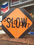 Vintage Road Sign Double Side Stop & Slow (MA812)