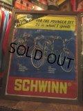 70s Vintage Schwinn Poster Sign W/Flame (AL115)