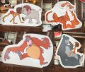 90s Vintage McDonalds Card Bord Sign Mobil Display Disney Jungle Book Set (AL204)