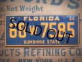 50s Vintage Bicycle License Plate 68 W 7585 (AL282)