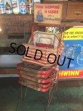 Vintage General Store Shoppig Basket Rack (AL370)