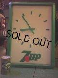 Vintage 7UP Lighted Sign Wall Clock (AL388)