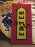 Vintage McDonalds ENTER Sign (AL503)