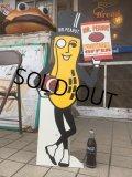 Vintage Planters Mr.Peanut Football Offer Cardbord Sign Sign (AL515)