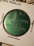 1981 Vintage Dog Tag #4018 (AL2587)