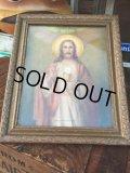 Vintage Jesus Wall Deco w/frame  (AL577)