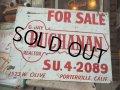 Vintage GJ BUCHANAN FOR SALE Sign (AL581)