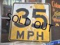 Vintage Road Sign 35 MPH (AL710)