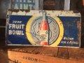 30s Vintage Fruit Bowl Soda Embosed Tin Sign (AL708)