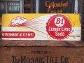 40s Vintage B-1 Lemon Lime Soda Embossed Metal Sign (AL926)