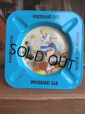 50s Vintage Pin-Up Girl Ashtray WOODLAND BAR (AL941)