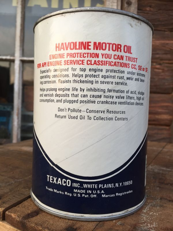 Sale vintage texaco havoline 1 quart motor oil can for Is havoline motor oil good
