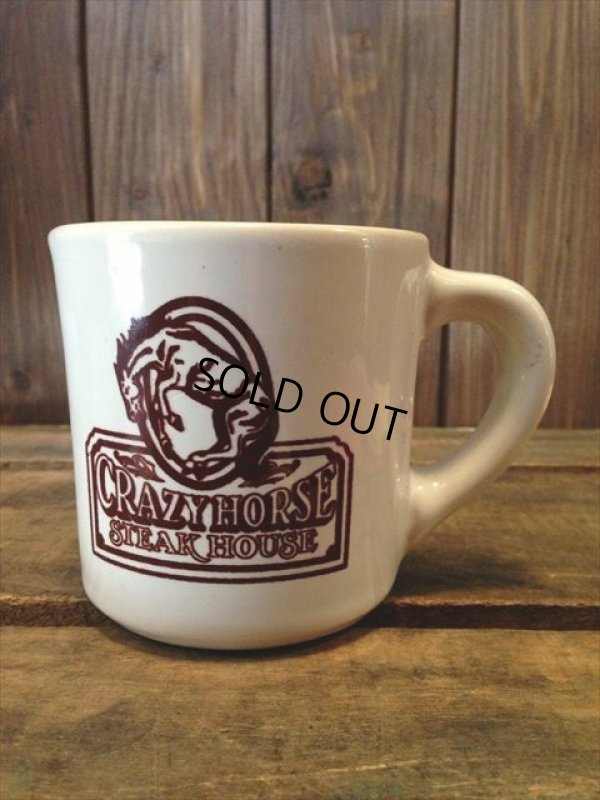 画像1: VINTAGE U.S.A. CRAZY HORSE STEAK HOUSE Restaurant Heavy Mug (NR-158)