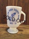 Fire King TUSLAW HIGH SCHOOL BAND Footed Mug (NR-185)