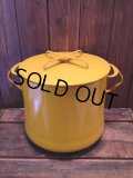 60s DANSK YELLOW ENAMELED STOCK POTS (NR-250)