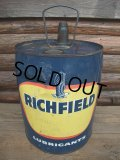 Vintage RICHFIELD 5GL Motor Gas/Oil (AC-448)