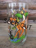 70s PEPSI GLASS / BAMBI (AC-484)