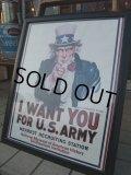 Vintage Uncle Sam Poster w/Frame (AC565)