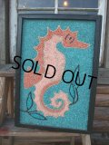 Vintage Sea Horse Art W/Frame Wall Decor (AC598)