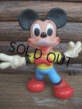 70s Vintage Disney Mickey Rubber Doll / Ledraplastic  (AC-744)