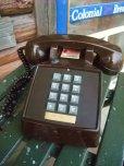 画像1: 70s Vintage Telephone / Brown (AC-822)  (1)