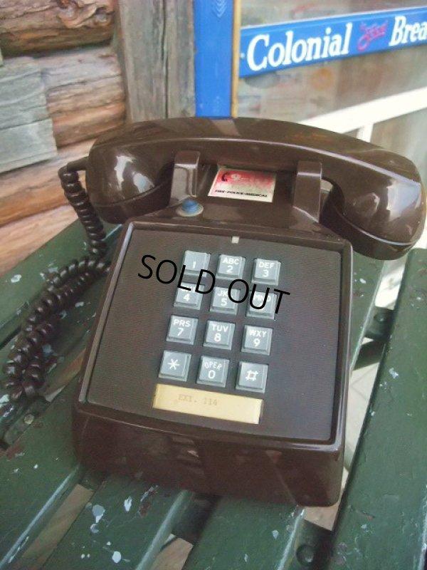 画像1: 70s Vintage Telephone / Brown (AC-822)