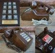 画像2: 70s Vintage Telephone / Brown (AC-822)  (2)