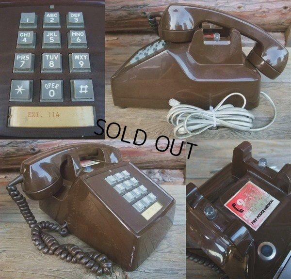 画像2: 70s Vintage Telephone / Brown (AC-822)