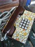画像1: 70s Vintage Telephone / Flower (AC-825)  (1)