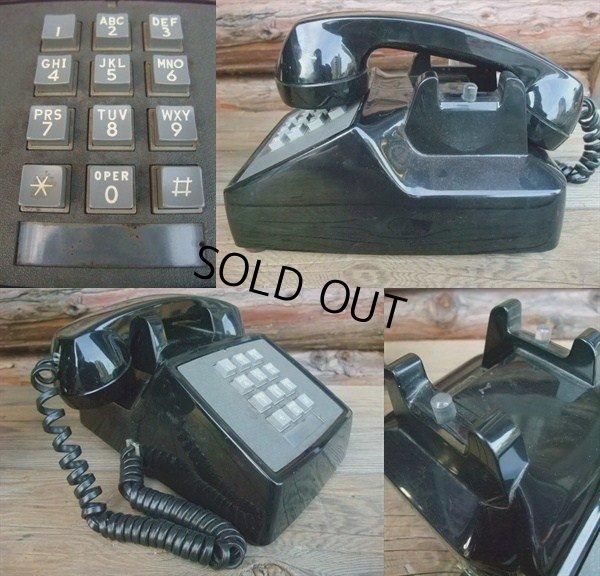 画像2: 70s Vintage Telephone / Black (AC-823)