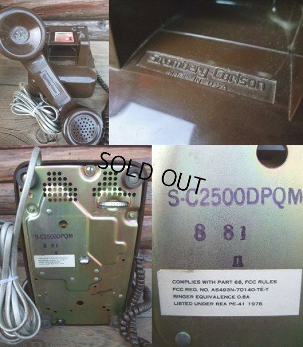 画像3: 70s Vintage Telephone / Brown (AC-822)
