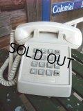 90s Vintage Telephone / White (AC-824)
