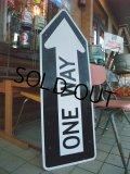 Vintage ROAD Sign / ONE WAY (AC-924)