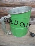 Vintage Hand-I-Sift Flour Sifter / Green (AC-1171)