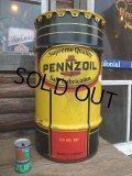 SALE / Vintage Drum Pennzoil 120 lb Oil Can (NK-147)