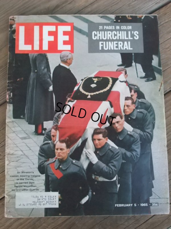 画像1: 60s Vintage LIFE Magazine / Feb 5,1965 (NK-453)