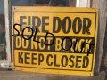 Vintage Road Sign FIRE DOOR (NK595)