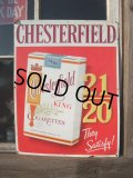 Vintage Store Sign / CHESTERFIELD CIGARETTS (NK594)