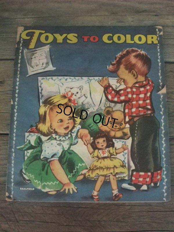 画像1: 50s Color Book / Toys to Color (NK-635)