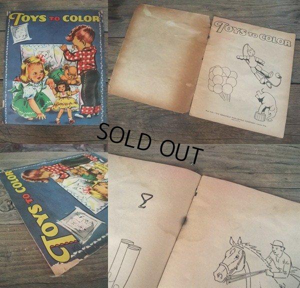 画像2: 50s Color Book / Toys to Color (NK-635)