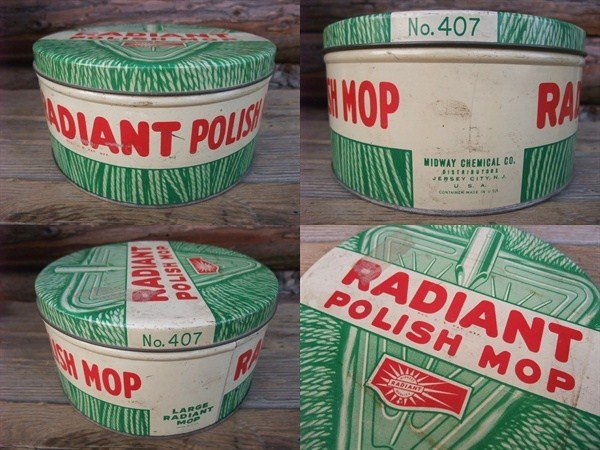画像2: Vintage RADIANT MOP Tin Can (NK751)